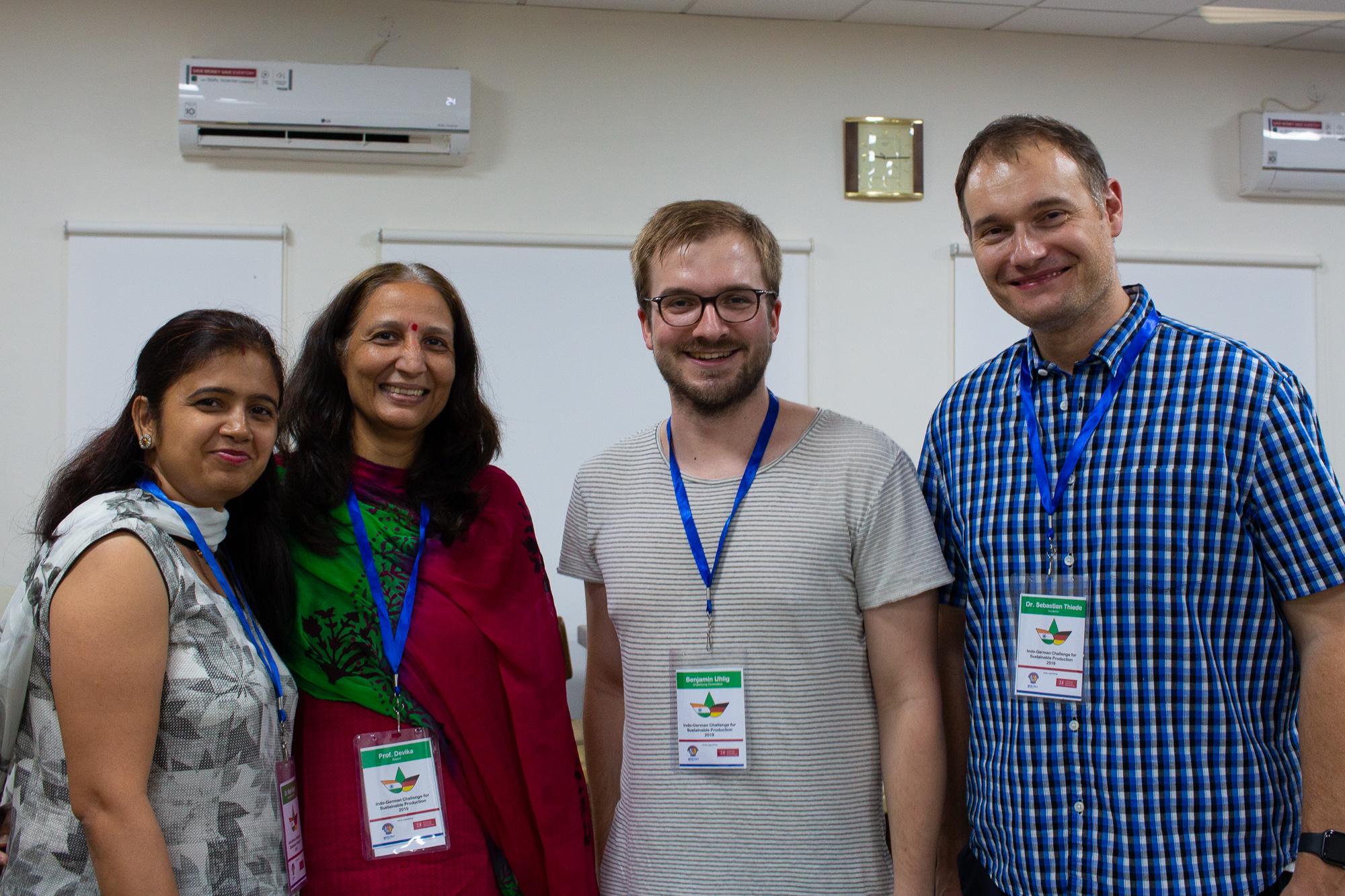 Dr. Rajni Singh, Prof. Devika, Benjamin Uhlig and Dr. Sebastian Thiede