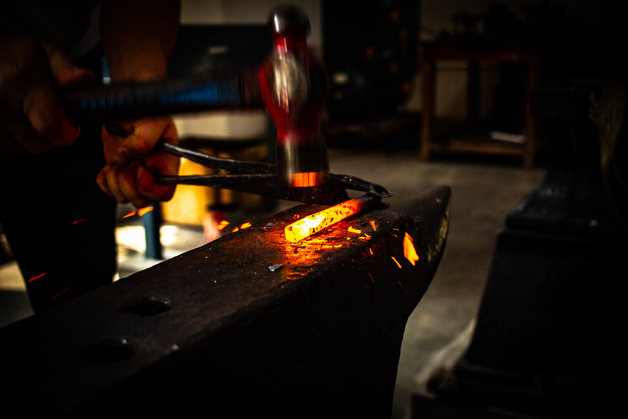 Forging in the new workshop