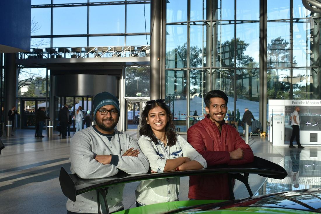 Saharsh, Shrinidhi and Yash in Autostadt