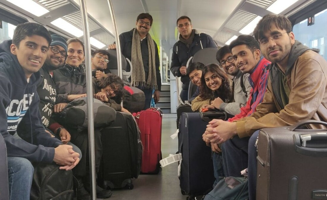 Indian group picture in the train to Braunschweig