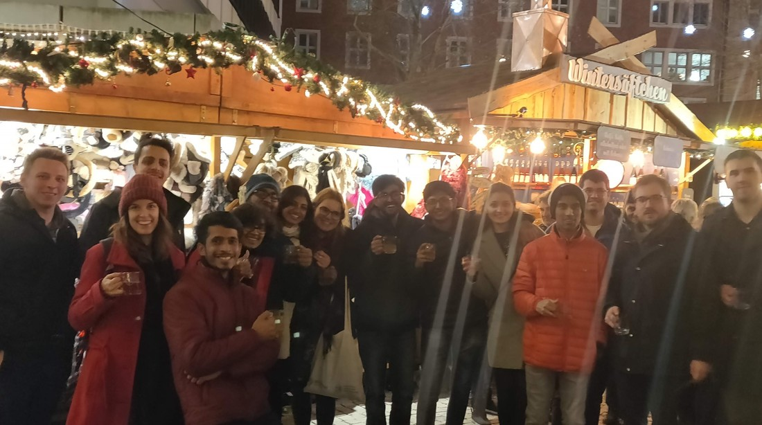 Group picture at Christmas market