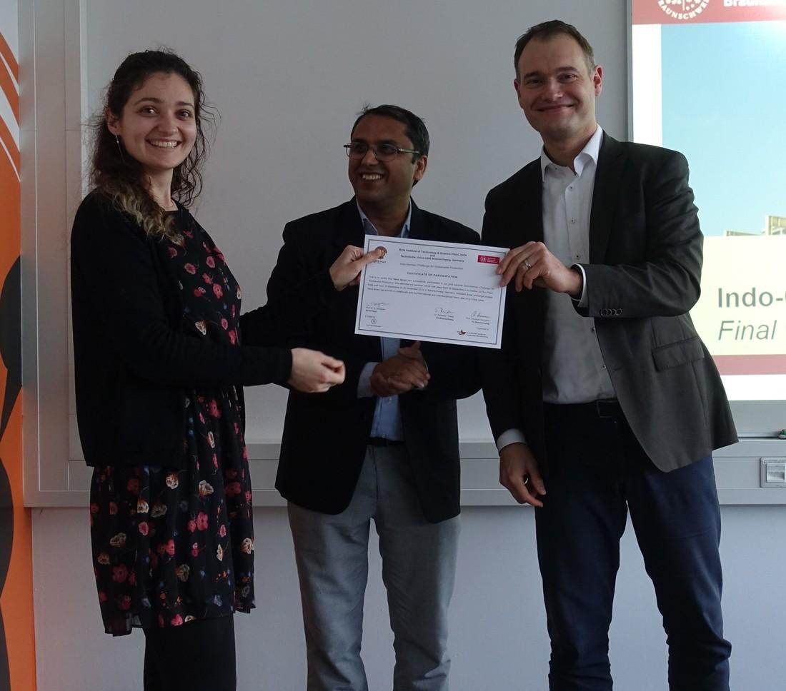 Presentation of Sena\'s certificate
