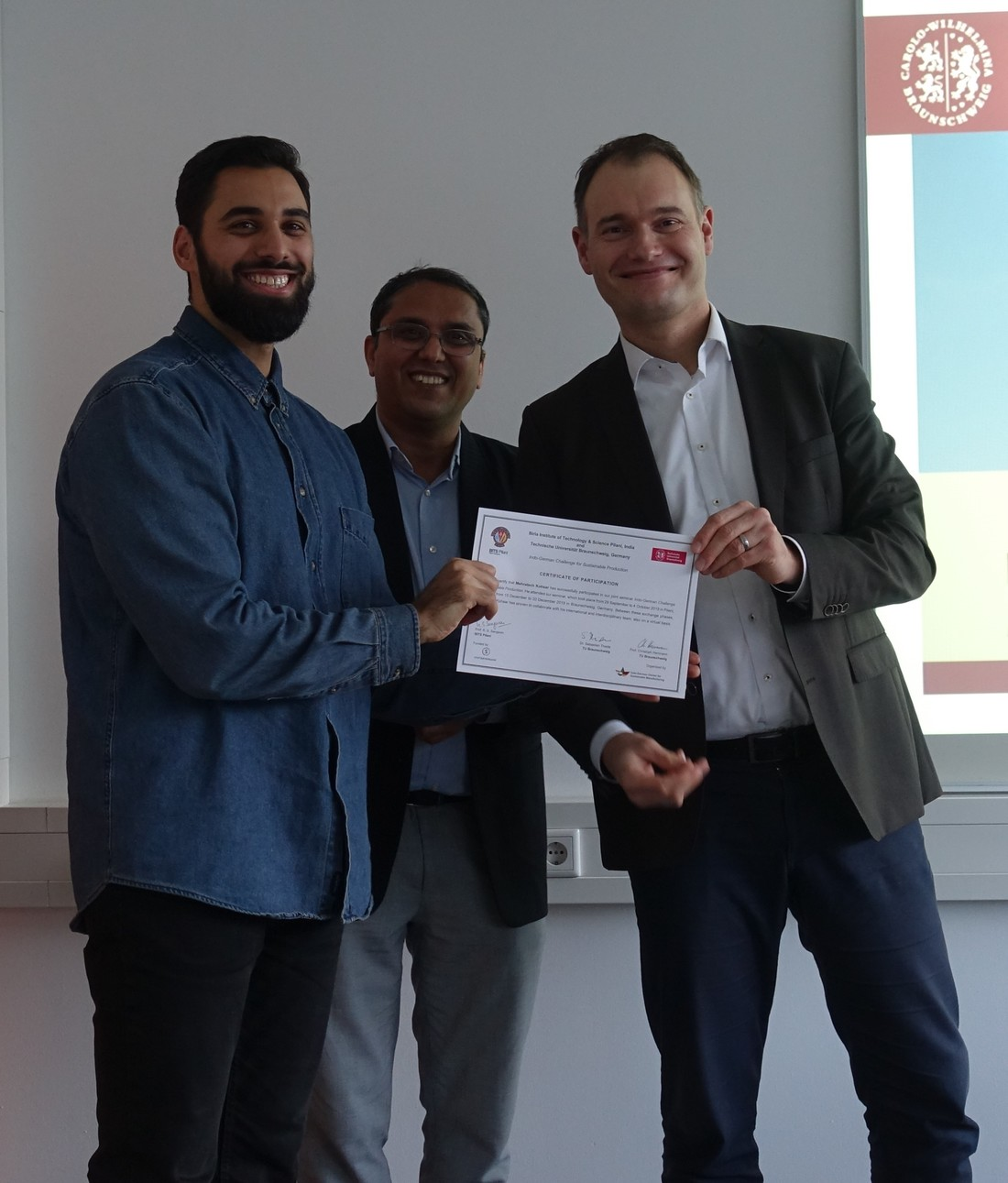 Presentation of Mehratsch\'s certificate